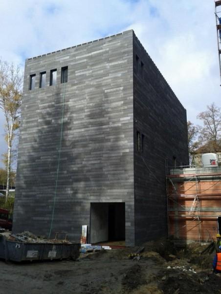 Depozitář galerie vznikající v budově lázní - autorem přestavby je člen Rady architektů J. Buček