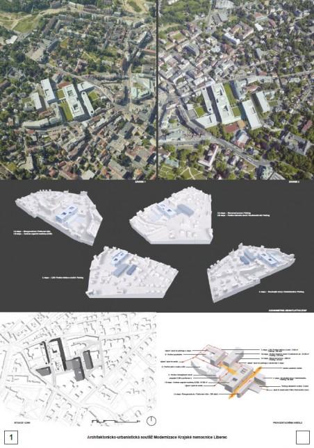 Výsledky soutěže na modernizaci Krajské nemocnice Liberec - vítěz: ateliér SIAL
