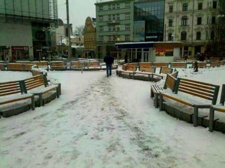 Soukenné náměstí - autorem přestavby je člen Rady architektů R. Kousal