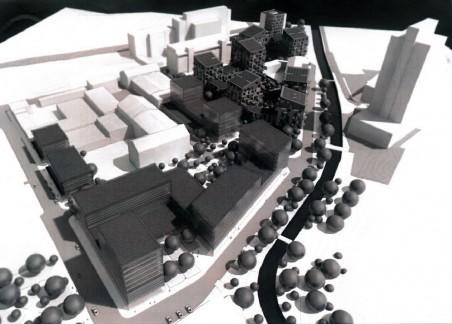 Studie zástavby ulice U Nisy - autorem územní studie je člen Rady architektů R. Kousal. Poté, co rada zamítla jiný projekt na stejné území architektů Mjölk.