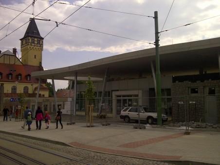 Nový vstup do ZOO, foto z průběhu stavby - autorem je člen Rady architektů R. Kousal